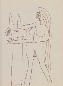 woman and rabbit totem