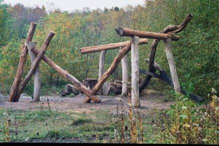 wooden place, baumplatz, rheinelbe