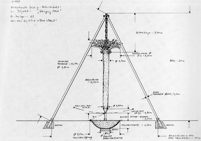 Hanging Tree, technical drawing, Der Wald - Ein Zyklus, p. 37